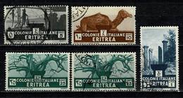 Eritrea 1933 Yv  196, 197, 2 X 199, 201  (o) Used / Obl / Gebr - Eritrea