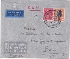 SIAM - 1938 - ENVELOPPE Par AVION KLM De La LEGATION De FRANCE (CACHET FRAPPE à SEC) ! De BANGKOK => PARIS - Siam