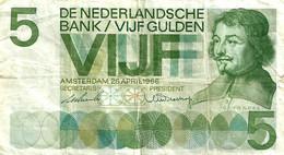 NETHERLANDS 5 GULDEN GREEN MAN FRONT MOTIF L BACK DATED 26-04-966) P90a VF READ DESCRIPTION !! - Unclassified