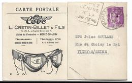 Morez Du Jura CEBE Ets L. Cretin-Bollet  (lunettes De Motard?) - Werbepostkarten