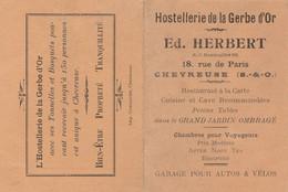 HORAIRE TRAINS DE PARIS A LIMOURS HOSTELLERIE DE LA GERBE D'OR  ED.HERBERT CHEVREUSE (78) - Europe