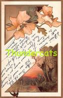 CPA EN RELIEF GAUFREE ART NOUVEAU EMBOSSED CARD - Sonstige