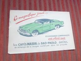 BUVARD : Les Cafés Masda De Sao Paolo BRESIL Jouet VOITURE STUDEBAKER COMMANDER - Automotive