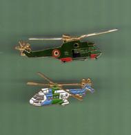 HELICOPTERE *** Lot De 2 Pin's Differents *** N°18 *** 5011-2 - Vliegtuigen