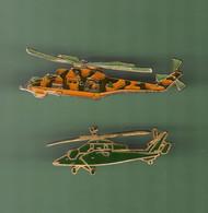 HELICOPTERE *** Lot De 2 Pin's Differents *** N°19 *** 5011-2 - Vliegtuigen