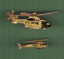 HELICOPTERE *** Lot De 2 Pin's Differents *** N°20 *** 5011-2 - Vliegtuigen