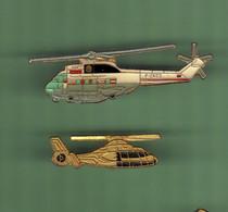 HELICOPTERE *** Lot De 2 Pin's Differents *** N°21 *** 5011-2 - Vliegtuigen