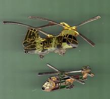 HELICOPTERE *** Lot De 2 Pin's Differents *** N°22 *** 5011-2 - Vliegtuigen