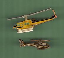 HELICOPTERE *** Lot De 2 Pin's Differents *** N°23 *** 5011-2 - Vliegtuigen