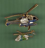 HELICOPTERE *** Lot De 2 Pin's Differents *** N°24 *** 5011-2 - Vliegtuigen