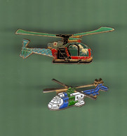 HELICOPTERE *** Lot De 2 Pin's Differents *** N°26 *** 5011-2 - Vliegtuigen