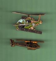 HELICOPTERE *** Lot De 2 Pin's Differents *** N°27 *** 5011-2 - Vliegtuigen