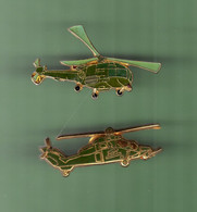 HELICOPTERE *** Lot De 2 Pin's Differents *** N°28 *** 5011-2 - Vliegtuigen