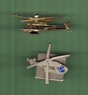HELICOPTERE *** Lot De 2 Pin's Differents *** N°29 *** 5011-2 - Vliegtuigen