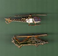 HELICOPTERE *** Lot De 2 Pin's Differents *** N°31 *** 5011-2 - Vliegtuigen