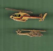 HELICOPTERE *** Lot De 2 Pin's Differents *** N°32 *** 5011-2 - Vliegtuigen