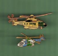 HELICOPTERE *** Lot De 2 Pin's Differents *** N°33 *** 5011-2 - Vliegtuigen
