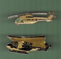 HELICOPTERE *** Lot De 2 Pin's Differents *** N°37 *** 5011-2 - Vliegtuigen