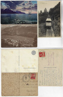 Switzerland 1913 / 1926 3 Postcards Train Funiculaire Territet Glion Lake Geneva Léman Leysin Chamossaire - VD Vaud