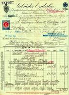 """Österreich Traun Bei Linz 1907 Rechnung + EINGEDRUCKTE Fiskalmarke (Ganzsache) """" Gebr. Enderlin Weberei"""" - Austria"""