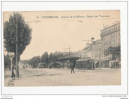 92 COURBEVOIE AVENUE DE LA DEFANSE STATION DES TRAMWAYS CPA BON ETAT - Courbevoie