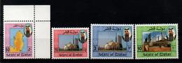 Qatar 1992, Scott 793 794 798 801, MNH, Sheik Khalifa, Map, Oil Refinery - Qatar