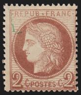 France N°51, Cérès 2c Rouge-brun, Neuf ** Sans Charnière - COTE 300 € - 1871-1875 Ceres