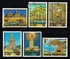 Congo 1978 Yv 505/507, 509, 511/512 Les 7 Merveilles Du Monde. - Usati