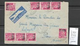 Reunion - Lettre  Avion SAINT ANDRE   - 1950 - Briefe U. Dokumente