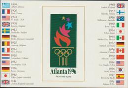 USA Postcard 1996 Atlanta Olympic Games - Mint   (G124-73) - Sommer 1996: Atlanta