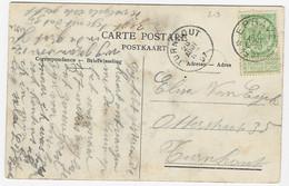 Zichtkaart Dinant Met OCB 56 - Afstempeling EPRAVE - 1893-1907 Coat Of Arms