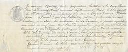 1880 Traite Papier Timbré / Querry Just Hôtelier La Croix Blanche / Doit 200 Fr à Vve Boigey De Guyans-Durnes / 25 Doubs - 1800 – 1899