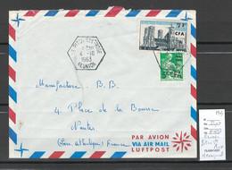 Reunion - Lettre - Piton Ste Rose - Hexagonal  -1963 - Briefe U. Dokumente