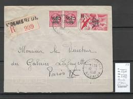Reunion - Lettre  Recommandée SAINT DENIS    - 1950 - Storia Postale