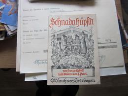 Schnadahupfln Munchener Lesebogen 1941 - Livres Anciens