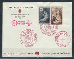 """LZ-/-106-Q-SUPERBE FDC Des N° 1006/07- FRANCE 1954 - LETTRE """"LA CROIX-ROUGE ET LA POSTE"""" EXPO MULHOUSE - Briefe U. Dokumente"""