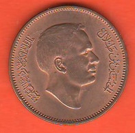 Giordania 10 Fils 1978 Jordan Qirsh Piastre  Bronze Coin - Jordan