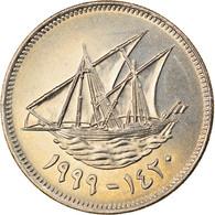 Monnaie, Kuwait, Jabir Ibn Ahmad, 50 Fils, 1999/AH1420, TTB, Copper-nickel - Kuwait