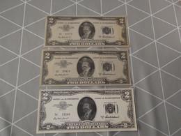 """BLANKENBERGE: Casino - Lot Van 3 """"two Dollars"""" Biljetten (17,5 X 7) - Blankenberge"""