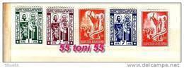 1937 Cyrillic Alphabet St CYRIL METHODIUS  5v.-MNH Bulgaria / Bulgarie - Ongebruikt