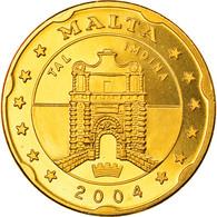 Monnaie, Malte, 20 Cents, 2004, Proof, FDC, Laiton - Malta