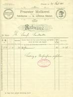 "PRAEST B Emmerich 1902 Rechnung Deko "" Praester Molkerei 1a Fetter Edamer "" - Alimentare"