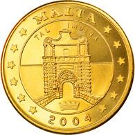 Monnaie, Malte, 50 Cents, 2004, Proof, FDC, Laiton - Malta