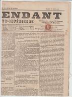 N°26  Oblitéré Typo Sur Journal L'indépendant De La Charente Inférieure - 1863-1870 Napoléon III Con Laureles