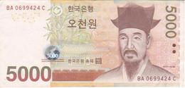 BILLETE DE COREA DEL SUR DE 5000 WON DEL AÑO 2007 (BANKNOTE) - Korea, South
