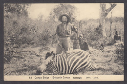 114599/ CONGO, Chasse Au Katanga, Zèbre - Congo Belga - Altri
