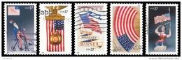 Etats-Unis / United States (Scott No.3776-80 - Patriotisme / Old Glory) (o) - Oblitérés