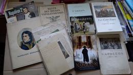 LOT NAPOLEON 1er BONAPARTE ROI DE ROME AIGLON CENT 100 JOURS EMPIRE LIVRES DOCS DIVERS FAC SIMILE VIEUX PAPIERS - Documenten