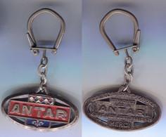 Porte-clefs Antar Ovale Horizontal Ex 2 4 Rue Léon Jost Paris 17e - Key-rings