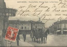 Saint Mihiel  Place Des Halles   Hotel Du Cygnes   Le Petit Casino     ATTELAGE - Saint Mihiel